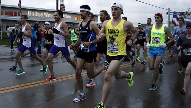 The start of Sunday's Community First Fox Cities Marathon.