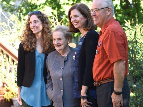 Lisa DiRado poses with former Secretary of State Madeline