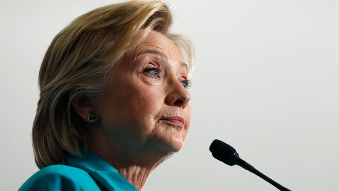 Hillary Clinton speaks at a campaign event in Reno on Aug. 25, 2016.