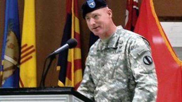 Then-Brig. Gen. Terry McKenrick took command of the