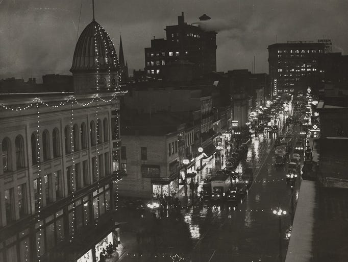 Looking east on Court Street, around 1950.