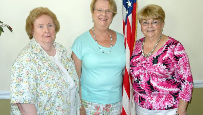 The New Jersey State Federation of Women's Clubs Southern District Ex-Presidents Club recently held a meeting to exchange ideas and discuss club activities. Eight clubs are represented within the district. Pictured: (from left) President Nancy Miceli from the Woman's Club of Vineland, and treasurer Mary Ellen Cropper and secretary Laura Badger both from the Woman's Club of Absecon.