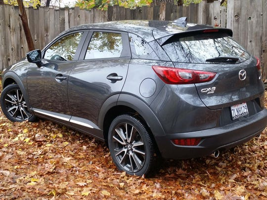 The CX-3's hip-point is higher than the Mazda 3 compact, but its ride height — 6.1 inches — is the same.