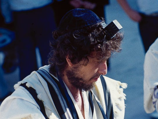 Bob Dylan is shown at his son's bar mitzvah on Sept.