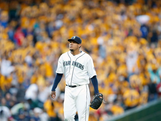 Felix Hernandez, with his 32nd birthday approaching,