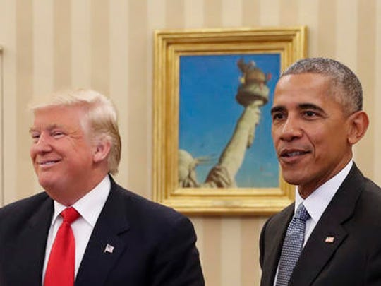 President Barack Obama meets with President-elect Donald