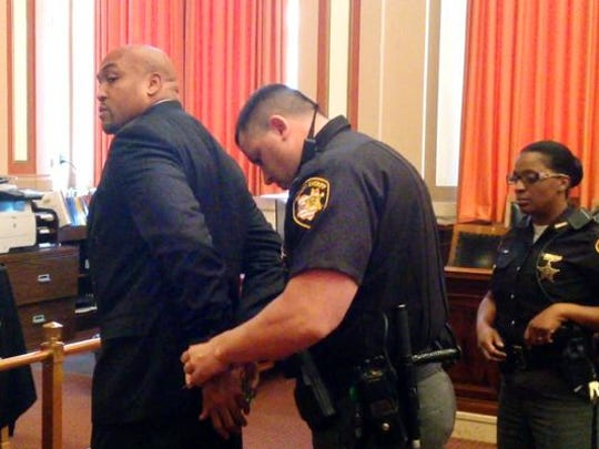 Darrell Beavers, moments after he was convicted, in court last year.