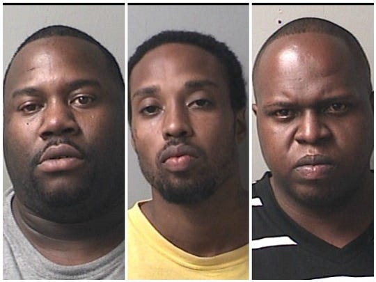 From left: Sylvester Moultrie, Otarius Johnson, Chrishon Nobles