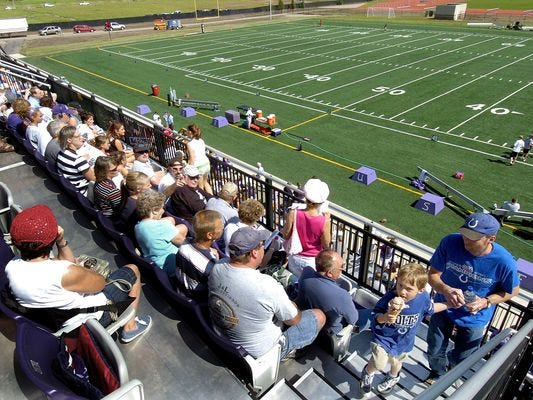 Fans gather at USF's Bob Young Field, which this August will also be home to the new Siouxland Youth Football League.