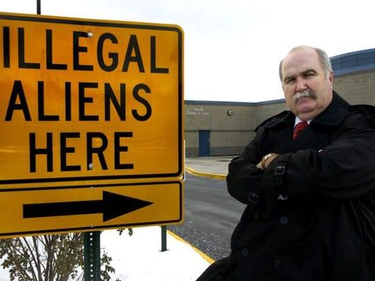 Butler County Sheriff Richard K. Jones erected this