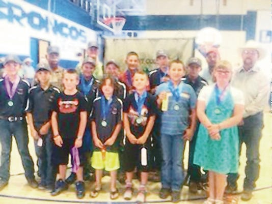 The Grant County 4-H shooting sports participants did well in the district contests, which were held in Grant County on June 17-18. Courtesy Photo