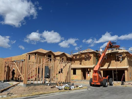 Housing construction continues at Riata Solar Home Community in Sparks on Sept. 17, 2015. Over the last five months, housing starts have been at an annualized rate of more than 1 million units.