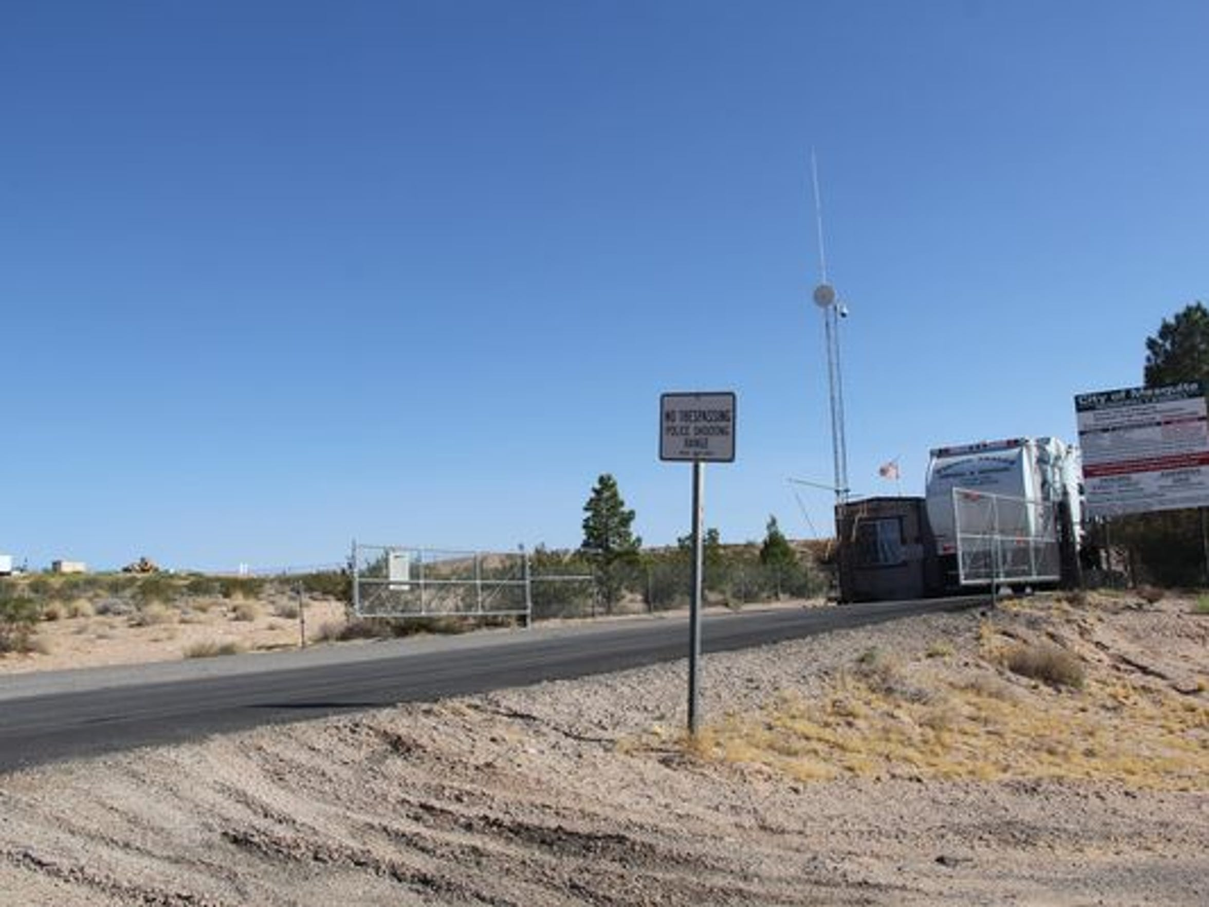 The Mesquite landfill is located more than a mile inside Lincoln County.