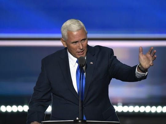 Indiana Gov. Mike Pence, the Republican nominee for