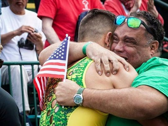 """""""Put people around them that can help them,"""" said Louis Allen, father of Oregon hurtler Devon Allen. """"I call and thank coaches all the time. If not for them, he wouldn't be at the level he's at."""""""