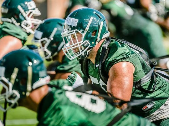 MSU offensive lineman David Beedle won't be at the NFL combine this week, but he could be a Day  3 pick in April's NFL draft.