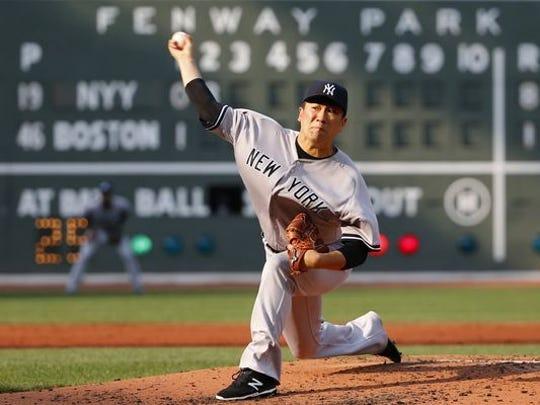 Masahiro Tanaka opposes Chris Sale tonight in Boston.