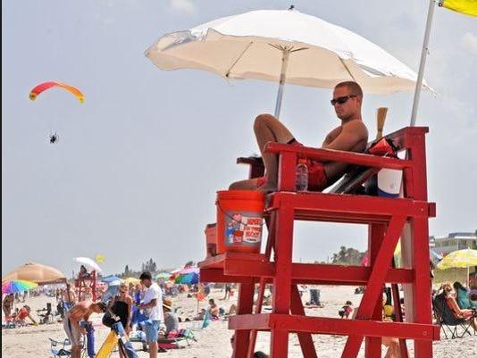 Brevard County Ocean Rescue lifeguard