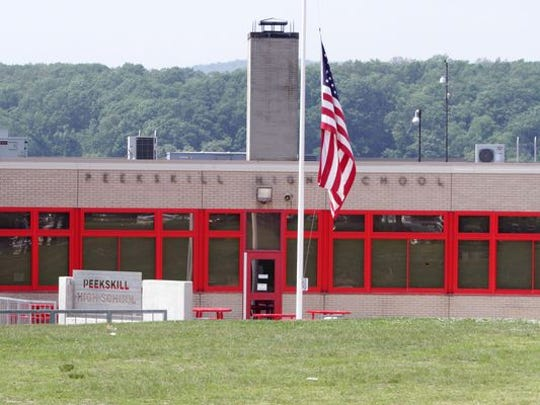 A view of Peekskill High School, photographed June 3, 2014.