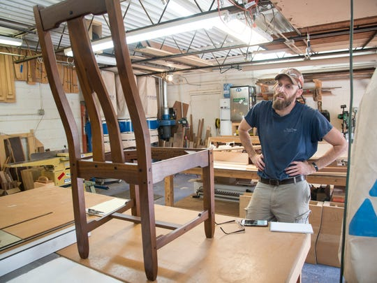 This Greene & Greene-style dining room chair may vault furniture-maker Brian Brace into the big time, he believes.