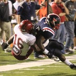 REBEL YELL - Ouachita meets West Monroe in football action at Rebel Stadium in West Monroe on Thursday, Oct. 11, 2012.