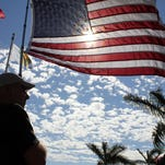 A symbolic photo sets the scene for Monday's ceremony at Veterans Community Park on Marco.