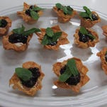 How to make Phyllo cups filled with vanilla bean cheesecake mousse  with mixed berry compote.