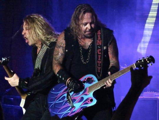 Bassist Dana Strum (left) and Motley Crue frontman