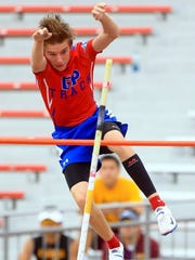 Gregory-Portland's Taylor McCormick placed fifth in the pole vault Friday at the Region IV-5A Track and Field Meet in San Antonio.