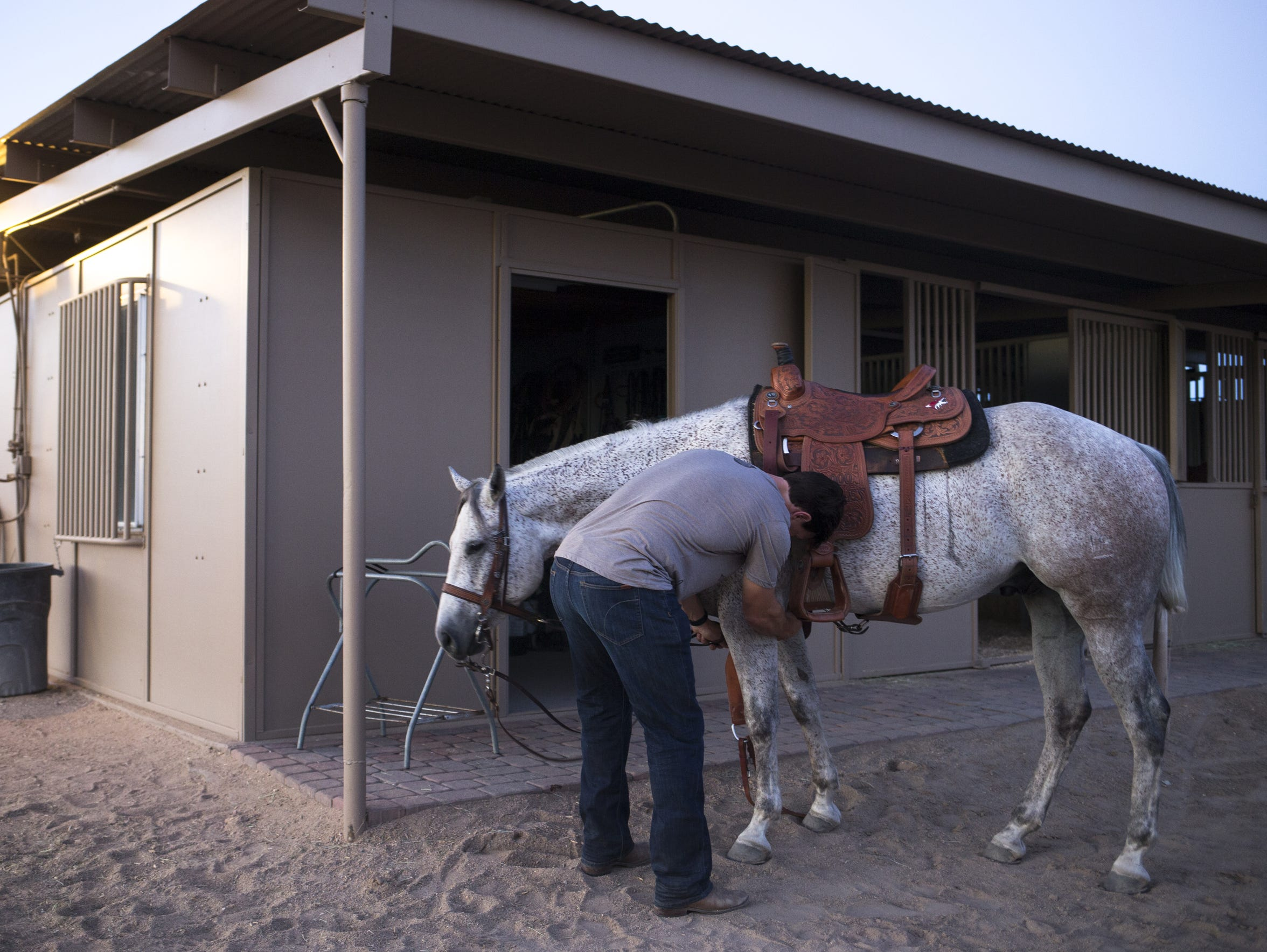 Doan has nine horses living at Ice Barns, another four