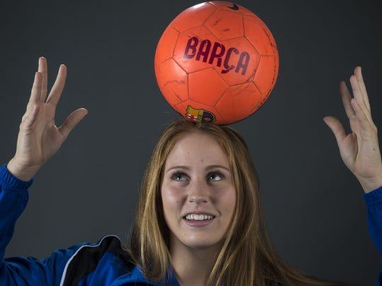 Hannah Best, junior soccer player from Chandler Valley