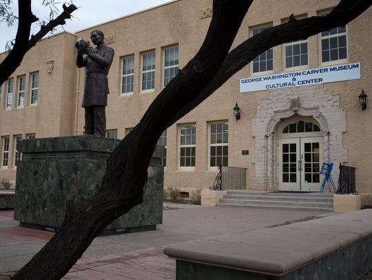 In the early 1950s George Washington Carver High School was where black students in the Phoenix Union High School District went to school.
