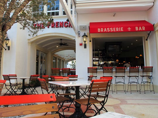 An indoor-outdoor bar and dining al fresco is available at The French, 365 Fifth Ave. S., Naples.