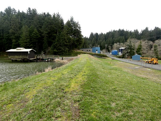 "The lower Big Creek Reservoir near Newport is one of seven dams in Oregon that have been deemed ""unsatisfactory"" by the Oregon Water Resources Department. Photographed on Tuesday, Feb. 14, 2017."