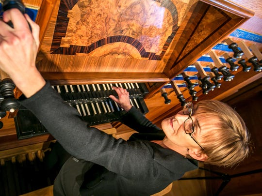 Annette Richards performs at Cornell's Sage Chapel on Tuesday
