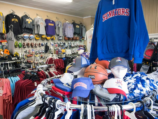 Lincks in Salem, Indiana, boasts a huge selection of area high school sports merchandise.