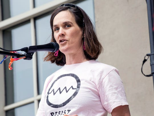Amanda Fuller, the Director of Kentucky Academy of Sciences was one of the featured speakers at the Louisville March for Science on Sunday. 4/23/17