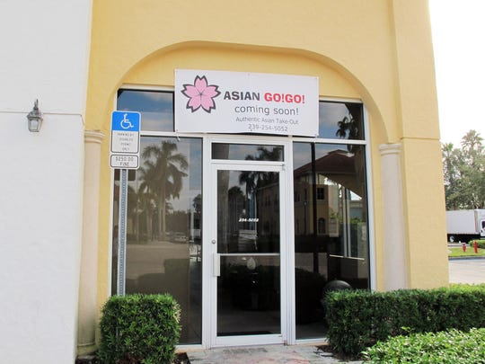 Asian Go!Go! is targeted to open in January 2018 in the former space of Lucarelli's in the Galleria Shoppes off Vanderbilt Beach Road in North Naples.