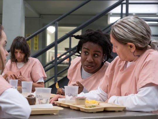 "Uzo Aduba and Dale Soules in Season 6 of ""Orange Is"