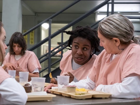 "Uzo Aduba and Dale Soules in Season 6 of ""Orange Is the New Black."""