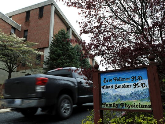 The family practice of Dr. Brie Folkner and Dr. Chad Smoker next to Blue Ridge Regional Hospital in Spruce Pine.