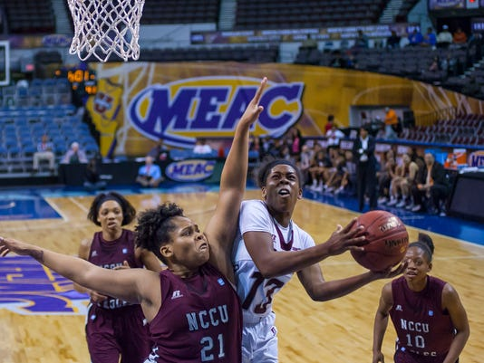 2015 MEAC Women's Basketball Tournament game between UMES and NCCU