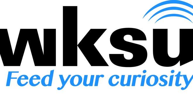 Logo of public radio station WKSU at Kent State University.