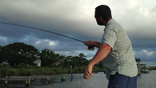 Fly fishing the Mississippi coast.