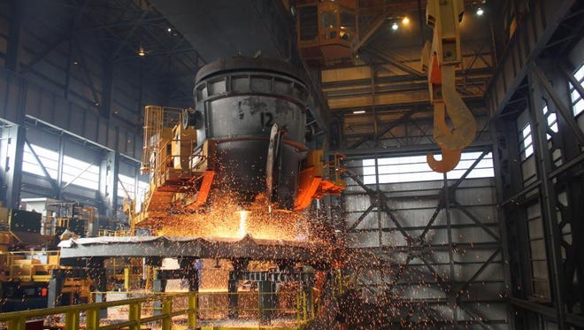 Steel is made at a Timkin plant in Ohio. Experts say the American Dream is becoming more difficult to achieve.
