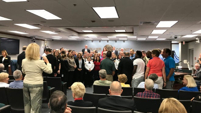 County County commissioners honor everyone who worked and responded to the wild fire.