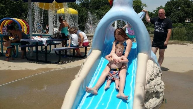Some 300-400 people a day come to the Latonia Water Park/Splash Pad on weekends.