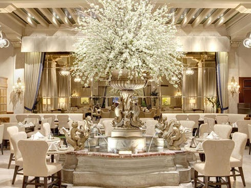 4. The Palm Court at The Drake Hotel in Chicago: Afternoon tea at this hotel in considered a Chicago experience as quintessential as eating a hot dog at Wrigley Field. And it seems that even royals agree: Princess Diana, Queen Elizabeth and the Empre