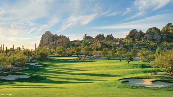 Whisper Rock Golf Club, Upper Course, No. 12, Scottsdale, Arizona.