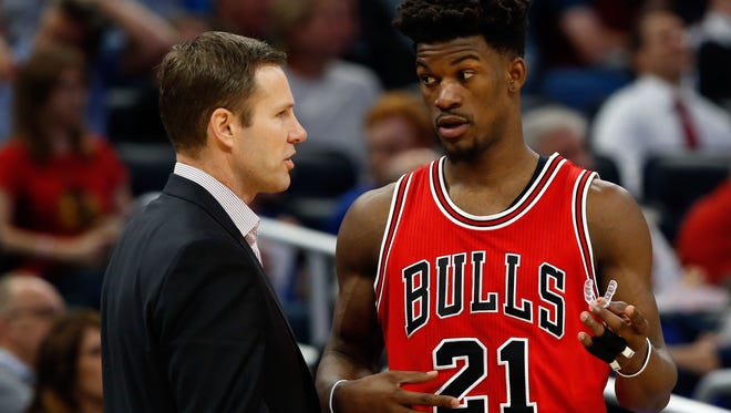 Bulls coach Fred Hoiberg has been effusive in his praise for star Jimmy Butler.